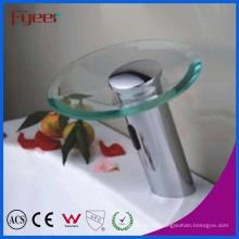 Fyeer Runde Glasauslauf Badezimmer Automatische Wasserfall Sensor Tap