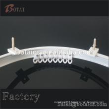 curved window plastic /pvc cutting curtain track /rail