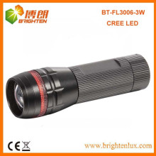 Factory Sale CE Good Quality Aluminum Metal Beam Focus 3w led Power Style Cree led Torch with Red Ring