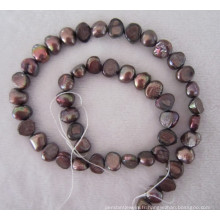 Perle Baroque marron, perles d'eau douce, perle (BRQ0910BR)