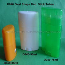 15ml 50ml 75ml Oval Shape Deo. Stick Tubes
