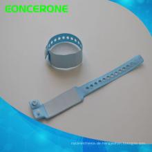 Barcode-Krankenhaus-Logo besonders angefertigt Identifizieren Sie Band-medizinisches Identifikations-Armband