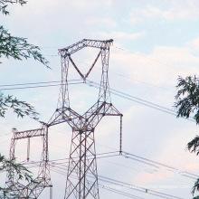 220kV Owl-Shapped lineal de transmisión de energía de la Torre de hierro
