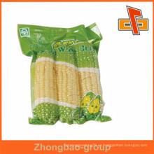 Gran impresión sellada de plástico bolsas de nylon personalizado para el maíz de embalaje
