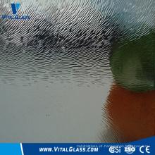 Vidro fosco Arte decorativa Vidro para banheiro Vidro