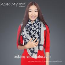 Echarpe carrée turque en gros Echarpe à chandail en laine polyvalente