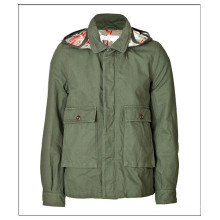 Factory wholesale short cotton canvas parka men