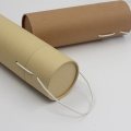 Custom printed cardboard cylinder gift box with lids