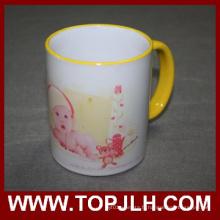Porcelaine Sublimation en céramique 11oz bordure colorée Mug