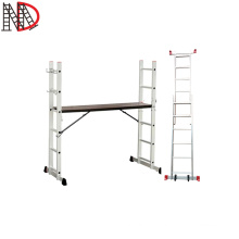 Folding Aluminum Ladder scaffolding with wheels