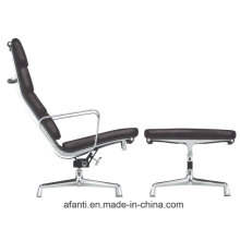 Furniture Aluminium Leather Lounge Leisure Chair with Ottoman (RFT-F3D)