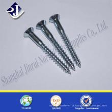 Parafusos de cornete de aço carbono galvanizado
