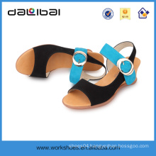 new model sex high heel leather hand made women wedge sandals