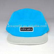 Sombrero de snapback de panel plano de ala 5
