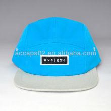 Chapéu de snapback de tela plana de dois rebites