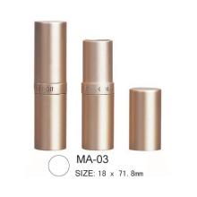 Round Cosmetic Aluminium Lipstick