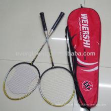 2014New Llega la venta al por mayor Venta al por mayor Moda Deportes profesionales Aluminio sin bádminton raqueta