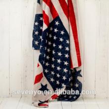 "China Fabrik Großhandel Billig Custom Reactive Printing ""US-Flagge"" Badetuch"
