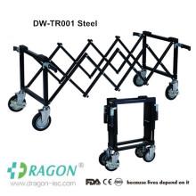 DW-TR Bier de transporte de acero inoxidable para adultos utiliza el equipo mortuorio