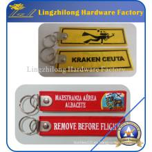 Quitar antes de la etiqueta de la llave del bordado de las marcas de Fligght