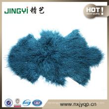 100% Long Hair Mongolian Lamb Fur Skin 50X90cm