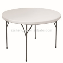 Table ronde en plastique pliante durable pliante