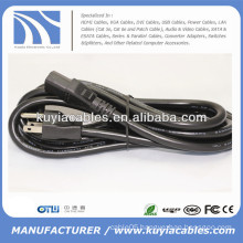 US Plug 3 Prong Power Cord for Computer