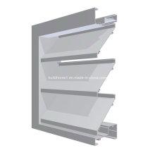 Verbesserte Steifigkeit Pulver Mantel Aluminium Louver Fenster