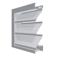 Improved Rigidity Powder Coat Aluminium Louver Window