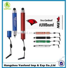 mini advertising banner flag touch screen stylus pen