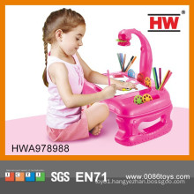 4 In 1 plastic painting machine kids projector toys