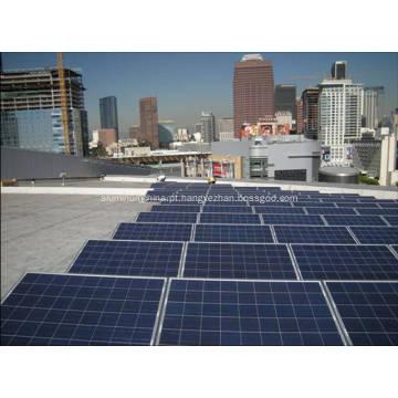 Alumínio anodizado Solar trilhos de montagem