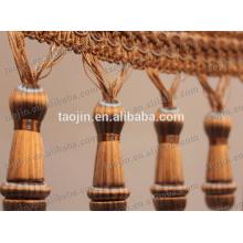 Borda de madeira decorativa / cortina franja / cortina friso de borla
