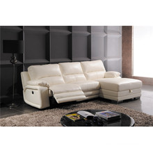 Genuine Leather Chaise Leather Sofa Electric Recliner Sofa (738)