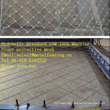 Hydraulic pressure row lock machine Slope protective mesh