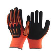 NMSAFETY оранжевый зимние перчатки анти-влияние