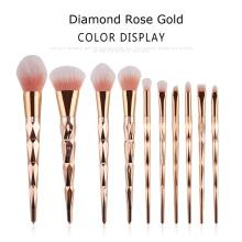 Ferramentas de pincel de maquiagem unicórnio Dimand Rose Gold
