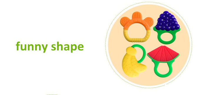 funny shape teether