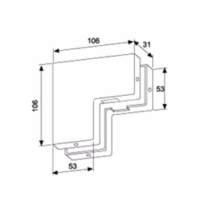 Door clip for glass doors and windows