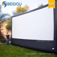 Grand écran de cinéma à projection arrière Écran de film gonflable extérieur