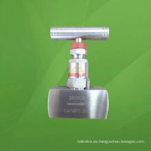 Válvula de aguja de rosca 6000 psi con palanca (GAJ13W)