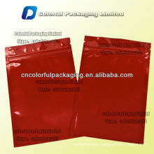5g Aluminum foil zipper packet with tear notch/Plain aluminum foil zipper top packaging bag