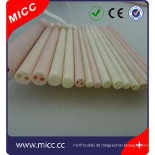 Hohe Temperaturbeständigkeit ausgezeichnete isolierende 4 Löcher Aluminiumoxid Keramikrohr