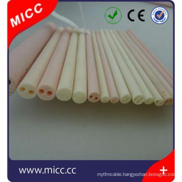 High temperature resistance excellent insulating 4 holes alumina ceramic tube