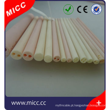 Resistência de alta temperatura excelente isolante de 4 furos de alumina tubo de cerâmica