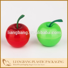 Plastic fruit, Green Apples with plastic ,double wall jar with cosmetic packaging