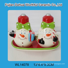 High quality ceramic snowman salt and pepper container