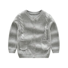 Children′s Cardigan Five Buttons, Round Neck Winter Sweater