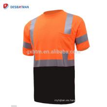 Camisa reflectante del trabajo de seguridad de la camisa de polo de la alta visibilidad de la alta calidad al por mayor de la alta calidad