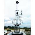 Tubo de fumar del cuello de la curva Tubo de agua de cristal del reciclador de Hbking Tubo de agua de cristal del difusor de Inliner que envía libremente